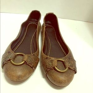 Frye Carson Harness Slip On Ballet Flats Womens 8